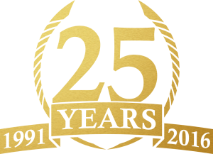 25-years-1991-to-2016-gold-logo